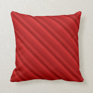 Diagonal Red Striped Pillow