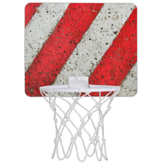 Diagonal red-white lines mini basketball hoop