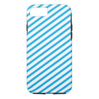 Diagonal Stripe Blue Pattern iPhone 7 Case