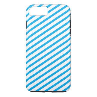 Diagonal Stripe Blue Pattern iPhone 8 Plus/7 Plus Case