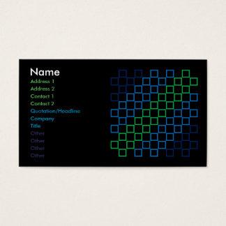 Diagonal stripe color spectrum pattern b card