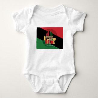 diagonal stripe Happy Kwanzaa Baby Bodysuit