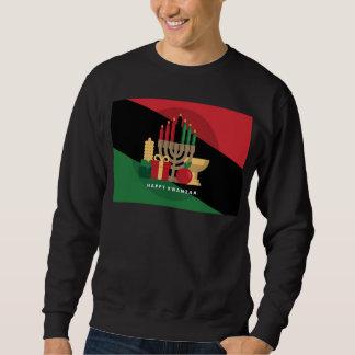 diagonal stripe Happy Kwanzaa Sweatshirt