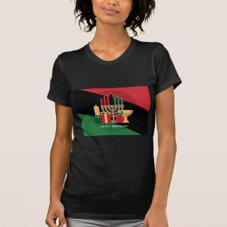 diagonal stripe Happy Kwanzaa T-Shirt