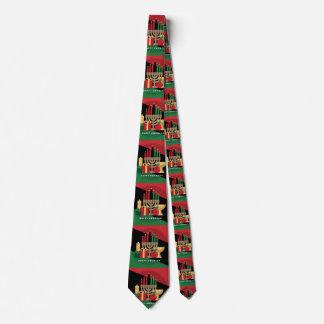 diagonal stripe Happy Kwanzaa Tie