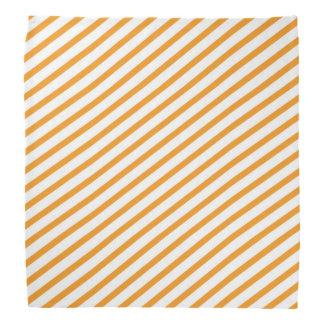 Diagonal Stripe Orange Pattern Bandana