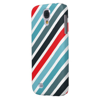 Diagonal Stripe Pattern Red and Blue Striped