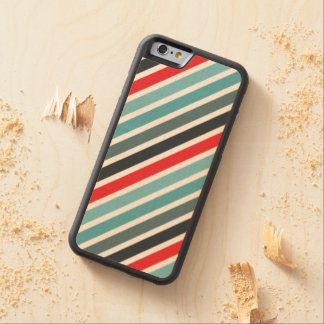 Diagonal Stripe Pattern Red and Blue Striped Maple iPhone 6 Bumper