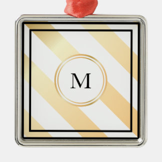 Diagonal striped monogram | Ornament