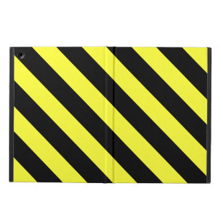 diagonal stripes black and yellow cover for iPad air