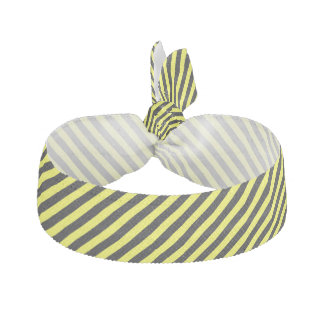 diagonal stripes black and yellow hair tie