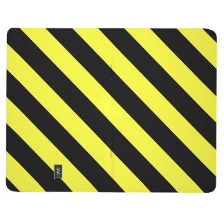 diagonal stripes black and yellow journals