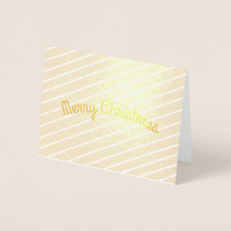 Diagonal Stripes Christmas Greetings Foil Card
