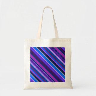 Diagonal stripes in blue and purple