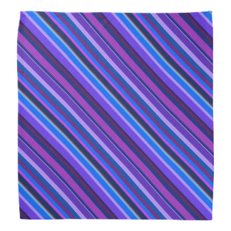 Diagonal stripes in blue and purple kerchiefs