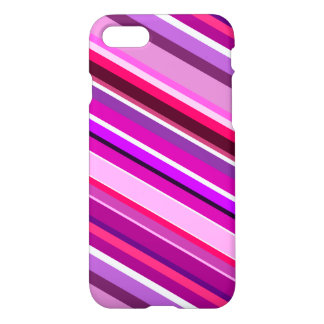 Diagonal Stripes in Pinks, Purples, and White iPhone 7 Case