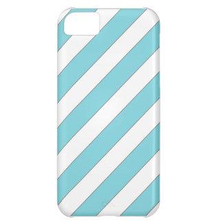 diagonal stripes light blue case for iPhone 5C