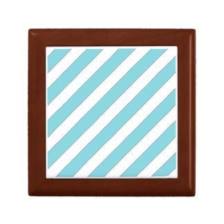 diagonal stripes light blue jewelry box
