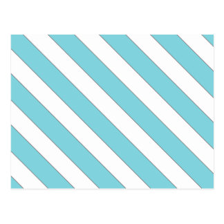 diagonal stripes light blue postcard