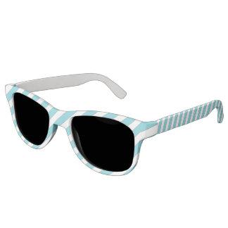 diagonal stripes light blue sunglasses