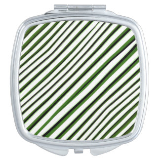 Diagonal Stripes Pattern Makeup Mirror