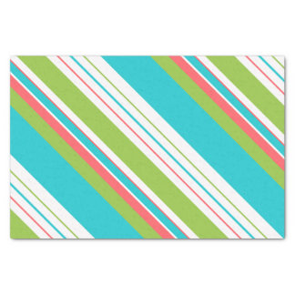 Diagonal Stripes Pattern Teal ID441 Tissue Paper