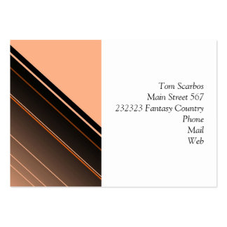 diagonal stripes,peach pack of chubby business cards