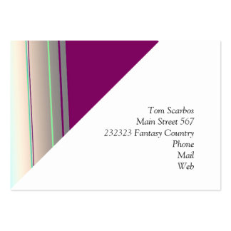 diagonal stripes purple blue pack of chubby business cards