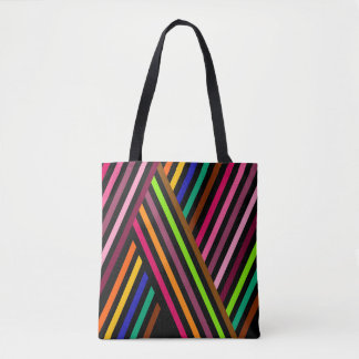 Diagonal Stripes Seamless Pattern Tote Bag