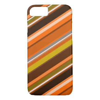 """Diagonal Stripes with """"Earthy"""" Colors iPhone 7 Case"""