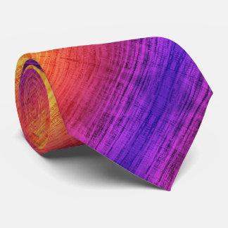 Diagonal Violet, Purple, Red and Orange Gradient Tie