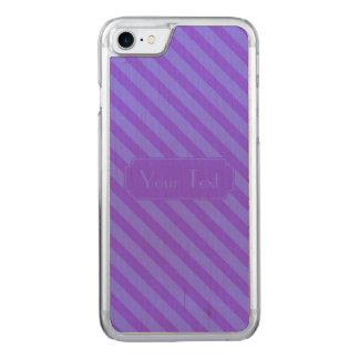 Diagonal Violet Purple Stripes text Carved iPhone 8/7 Case