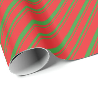 Diagonal Yule Stripes Wrapping Paper
