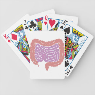 Diagram of Intestine Gut Digestive System Bicycle Playing Cards