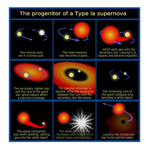 Diagram of The Progenitor of a Type Ia Supernova Poster
