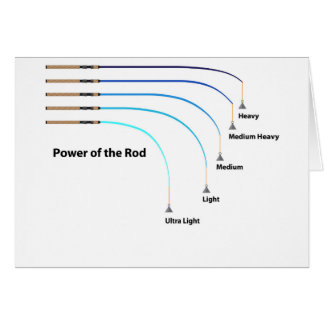 Diagram power of the fishing rod characteristics card