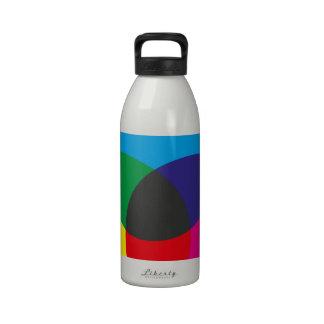 Diagramme de mélange de couleur soustractive bouteille d'eau