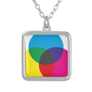 Diagramme de mélange de couleur soustractive colliers personnalisés
