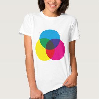 Diagramme de mélange de couleur soustractive t shirts