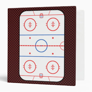 Diagramme de piste de compagnon de match de hockey classeurs vinyle