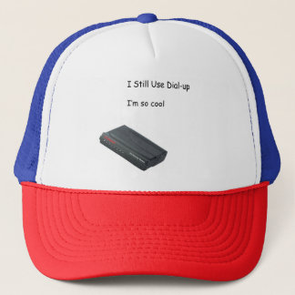 dial-up trucker hat