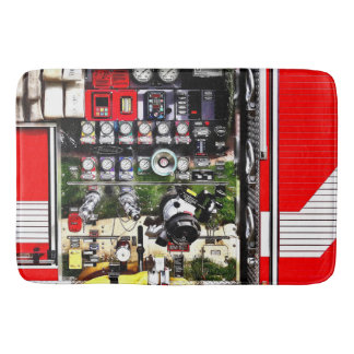Dials and Hoses on Fire Truck Bathroom Mat
