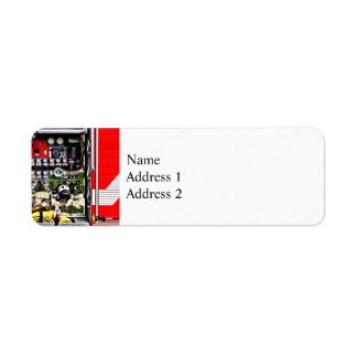 Dials and Hoses on Fire Truck Return Address Label