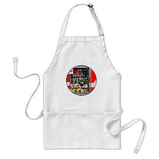 Dials and Hoses on Fire Truck Standard Apron