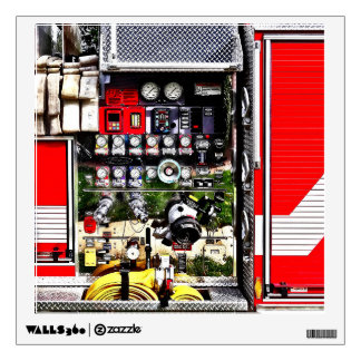 Dials and Hoses on Fire Truck Wall Sticker
