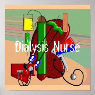Dialysis Nurse Art Poster