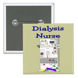 Dialysis Nurse Gifts-Unique Machine Design 2 Inch Square Button