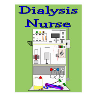Dialysis Nurse Gifts-Unique Machine Design Postcard