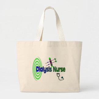 """Dialysis Nurse"" Unique graphics Gifts Jumbo Tote Bag"
