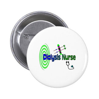 """Dialysis Nurse"" Unique graphics Gifts 2 Inch Round Button"